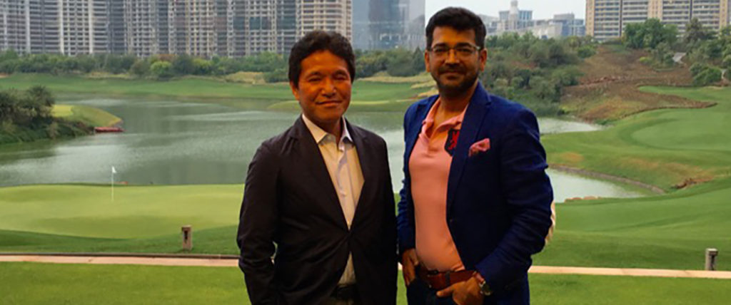 Vikram Upadhyaya with Makoto Takano